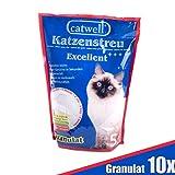 Silikat Katzenstreu von Catwell im Sparpack (10 x 5L), Granulat und 100% biologisch - 2