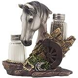 White Stallion Salt and Pepper Set with ...