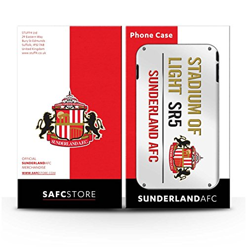 Offiziell Sunderland AFC Hülle / Glanz Snap-On Case für Apple iPhone 4/4S / Pack 6pcs Muster / SAFC Stadium of Light Zeichen Kollektion Weiß/Gold