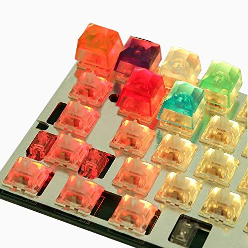 Shine Cherry (LZY 1 / Pcs Resin Jewel Keycap Neuheit Shine durch Tastenkappen für Cherry Mx Mechanical Gaming Keyboard,Blau,)