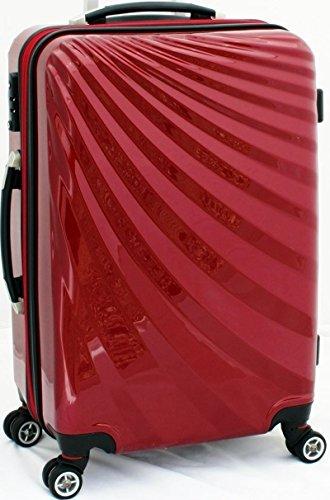 VIVIANA Hartschalen Koffer Trolley in ROT mit TSA Schloss Größe LARGE