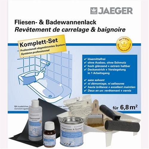Jaeger Badewannen- & Fliesenlack für 6,8 m² Set reinweiss