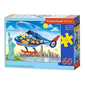 CASTORLAND New York City Helicopter Tour 60 pcs Puzzle - Rompecabezas (Puzzle Rompecabezas, Dibujos, Niños, Niño/niña, 5 año(s), Interior)