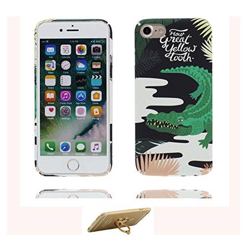 iPhone 7 Custodia, iPhone 7 Copertura 4.7, [ Peso leggero ultra & sottile Silicone Gel Soft Gel ] Cartoon iPhone 7 Case [ Spazio Pianeti galassiali ], antiurto e ring supporto (Libero) Color 7