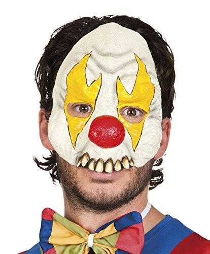Halloweenia - Halloween Kostüm Halbe Latex Maske Horror Clown, (Gold Maske Wear Halb Party)