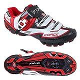 Force MTB Schuhe Devil Carbon, Sportliche Schuhe (45, weiß-Rot)