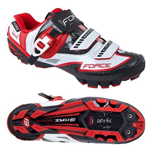 MTB Schuhe Force Devil Carbon, Sportliche Schuhe weiß-rot