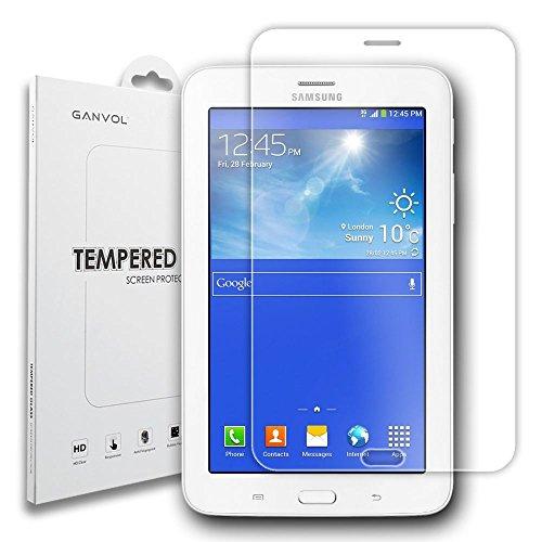 Ganvol kompatibel mit Panzerglas Panzerfolie Samsung Galaxy Tab 3 7.0 Lite 17,78 cm (7 Zoll) SM-T113NDWADBT SM-T113NYKADBT T110 T111 T113 T116
