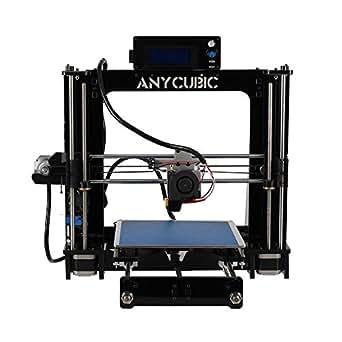 Anycubic Prusa I3 3D-Drucker LCD Bildschirm USB SD Karte 3D Printer DIY Kit Set (Schwarz)