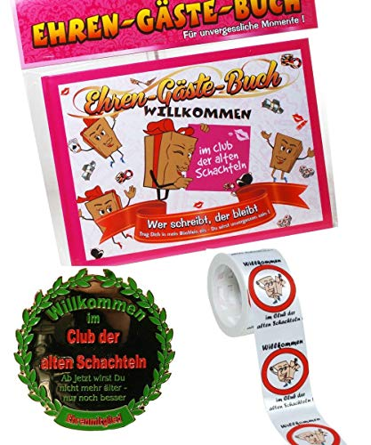 Hobby Welt Bastelset Geschenk Set alte Schachtel, für lustige Geburtstagsparys - Verschiedene Sets (3-teilig)