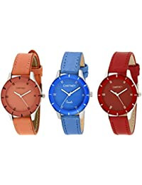 Cartney Analogue Combo Pack of 3 Wrist Watch For Girls and Women - CTY-COM3