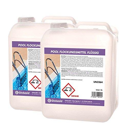 2 x 10 L Flockungsmittel flüssig - Superflock Flock Pool - Flockmittel flüssig für Pool-Wasser