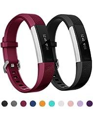 Kutop für Fitbit Alta HR Armband, TPU Soft Silikon Sport Fitness Ersatzband Silikagel Verstellbares Uhrenarmband für Fitbit Alta/Alta HR