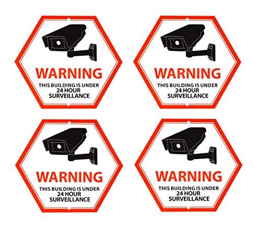 Mandala Crafts Home Business Outdoor CCTV Sicherheit Überwachung Video Kamera Alarm Große Aluminium Schild