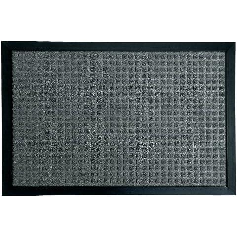 Rubber-Cal Nottingham Charcoal Carpet Door Mat (1'4 x