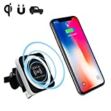 Qi Cargador Inalámbrico Coche Magnetico , DOCA Standard Wireless Charger Car para iPhone X , iPhone...