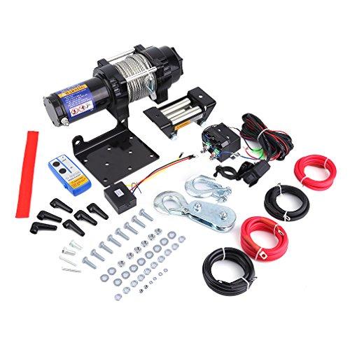 kinshops 4000lb (1814kg) 12V portátil eléctrica Torno de Auto, alambre eléctrico cabrestante (para SUV Auto