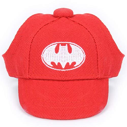 Harlls Sommer-Haustier-Hüte für kleine Hunde Cartoon-Hut mit Ohrlöcher Hund Baseball Cap Katze Sonnenhut Pet Zubehör - Rot (Bat-Stil) L