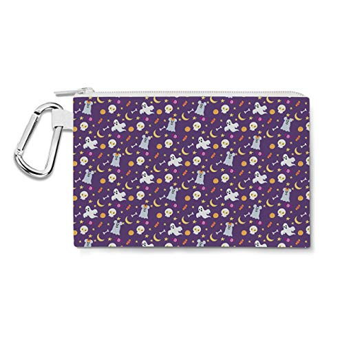 innie Ghosts Disney Inspired Canvas Zip Pouch - Small Canvas Pouch 7x5 inch Federmäppchen ()