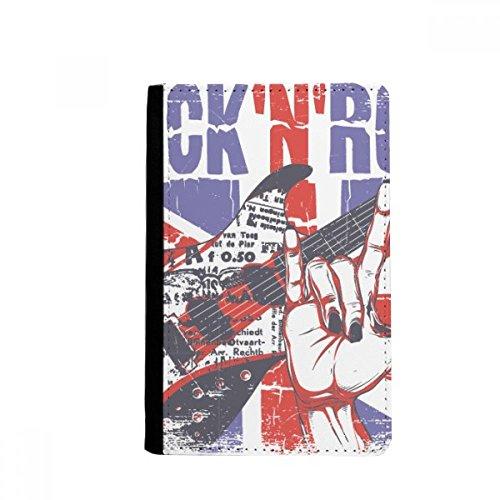 beatChong Rock Guitar England Großbritannien Country Flag UK-Pass-Halter Travel Wallet Abdeckungs-Fall Karten-Geldbeutel Großbritannien-flags