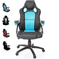 Charles Jacobs Executive Racing Style Gaming Chair Luxury Office High Back Support with Tilt Lock Mechanism - Choice of Colours