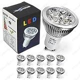 10x GU10 LED SPOT Lampe 4.5W LED Strahler Energiesparlampe Leuchtmittel *Kaltweiß* 230 Volt 4.5 Watt