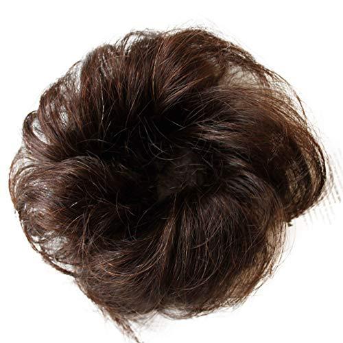 e865e0d25a1f97 PRETTYSHOP 100% Echthaar Humanhair Haargummi Haarteil hairpiece  Haarverdichtung Zopf Haarband.