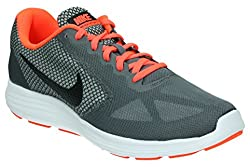 Nike Herren Revolution 3 Trainingsschuhe, Grau (Dark Grey/Black-Total Crimson-Wolf Grey)),45 EU (10 UK)
