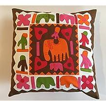 India Funda de cojín (Juego de 2) 42x 42cm Multicolor Patchwork de similar Impresión Fundas de almohada