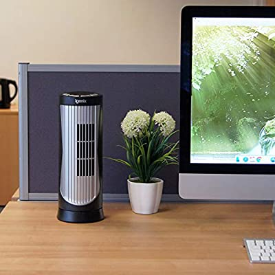 Igenix Oscillating Mini Bedside Tower Fan - 12 inch