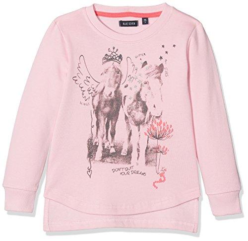 BLUE SEVEN Mädchen Sweatshirt 764541 X Rosa (Rosa 405), 122 (Baby Pferd Jumper)