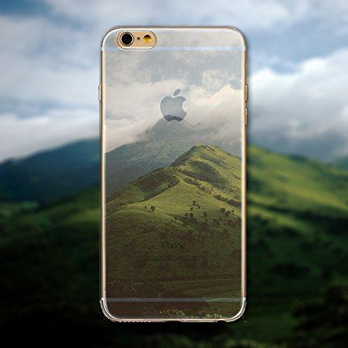 Coque iPhone 7 Housse étui-Case Transparent Liquid Crystal en TPU Silicone Clair,Protection Ultra Mince Premium,Coque Prime pour iPhone 7-Paysage-style 10 12
