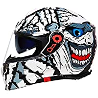 CASQUE Casco Motocicleta Doble Lente Moto Moto ABS Transpirable Frío Racing Casco De Invierno Hombres Y