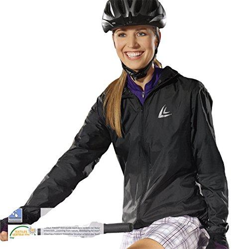 CRIVIT® Damen Fahrradjacke mit Kapuze, ultraleicht, Gr. M (40/42), schwarz (Schmutz-fahrrad-bekleidung)
