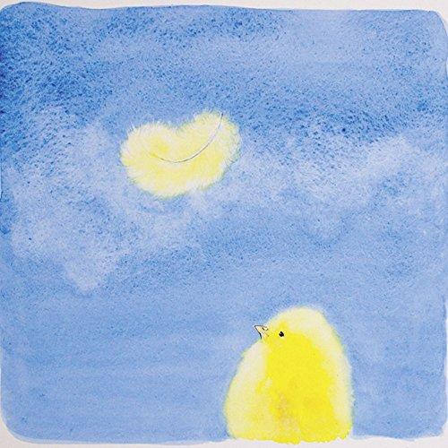 Artland Qualitätsbilder I Wandtattoo Wandsticker Wandaufkleber 60 x 60 cm Tiere Vögel Huhn Malerei Blau A8TH Hutmode