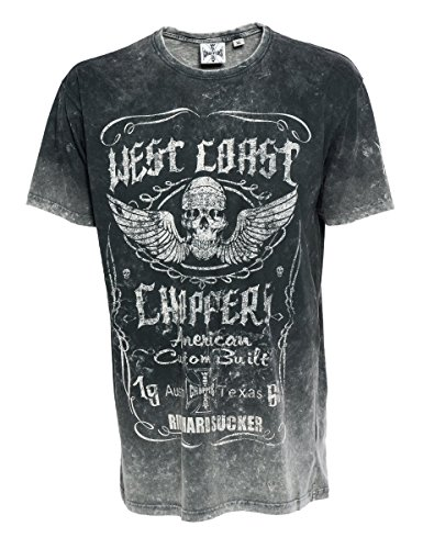 West Coast Choppers Ride Hard Sucker Vintage T-Shirt, Farbe:grey/black;Größe:L