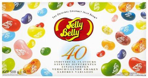 Jelly Belly Beans 40 Sorten Geschenkpackung, 1er Pack (1 x 500 g)