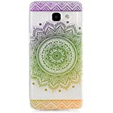 KSHOP Etui cas TPU silicone pour Samsung Galaxy A3(2016)A310 Coque Case Cover Housse de protection Shell avec mince motif d'impression - Indian Saint Flower Mandala vert