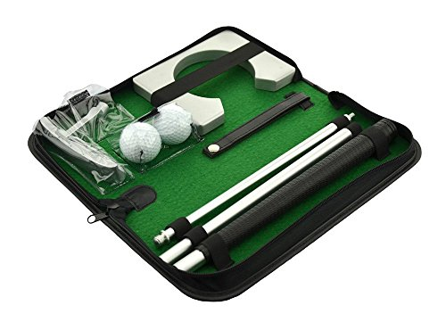 posma pg020 Tragbare Golf Putting Geschenk Set Kit Mit Putter, 2 Golf Bälle, und Putting Cup für Indoor Outdoor Training Praxis -