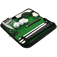 posma pg020 Tragbare Golf Putting Geschenk Set Kit Mit Putter, 2 Golf Bälle, und Putting Cup für Indoor Outdoor Training Praxis