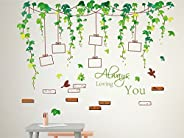Amazon Brand - Solimo Wall Sticker for Living Room (Vine photo gallery, ideal size on wall , 120 cm X 88 cm),M
