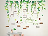 #8: Solimo Wall Sticker for Living Room (Vine photo gallery, ideal size on wall ,  120 cm X 88 cm)