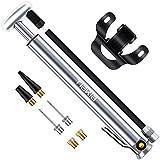 Tiakia Fahrradpumpe, Tragbare Luftpumpe Mini Rahmenpumpen Maxer Druck 210 PSI, Kompakt Hochdruck Luftpumpe aus Aluminiumlegierung, Fahrrad Standpumpe für AV/DV/SV, für BMX, Mountainbikes, Rennrad