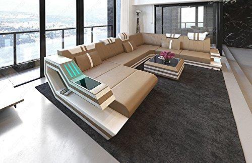 Sofa Dreams Designer Wohnlandschaft Ravenna in XXL auch mit Schlaffunktion