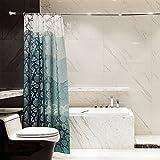 QSZS Duschvorhang Transluzent Drucken Verdicken Muschelnduschvorhang Badezimmer Vorhang Schimmel Wasserdicht Duschvorhang,180*180CM