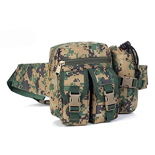 Argano Sling – Borsa a tracolla per sport outdoor sbilanciato Crossbody petto zaino per escursioni, viaggi, Dust Digital Jungle Digital