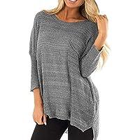 Damen Pullover Frauen Langarm Solid Stricken Sweatshirt Pullover Tops Bluse Shirt