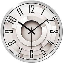 CivilWeaEU- Relojes de Moda Personalizada Salón Dormitorio Creativo Moderno Simple Silencio Reloj Grande Reloj De