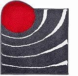 Grund COLANI Exklusiver Designer Badteppich 100% Polyacryl, ultra soft, rutschfest, ÖKO-TEX-zertifiziert, 5 Jahre Garantie, Colani 2, Badematte 80x150 cm, anthrazit