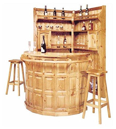 Arredamenti Rustici Completo angolo bar in pino - Colore Noce